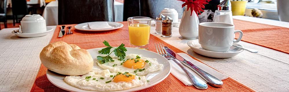 The tasty breakfast